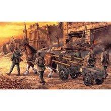 Dragon 1/35 8.8cm Panzerschreck Infanteriekarren (6 Figures, Horse & 2 Carts) '39-'45 Series