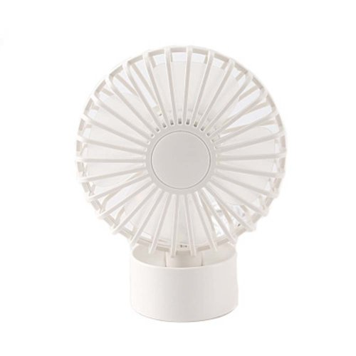 Fashion Simple Design USB Fans Portable Fan Desk Fan for Office, White