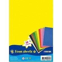 Pbx2470247 - Playbox - Foam Sheets (10 Colours) - 30 X 20 Cm - 10 Pcs