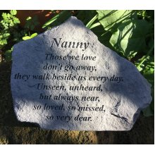 Nanny Those We Love Memorial Stone Plaque Ornament