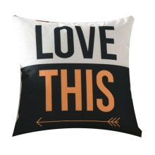 Letter Design Cotton and Linen Home Creative Pillow