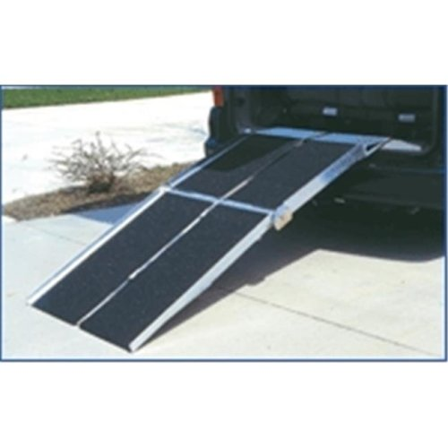 7-ft x 30-in Portable Multifold Reach Wheelchair Ramp 800 lb. Weight Capacity  Maximum 14-in Rise