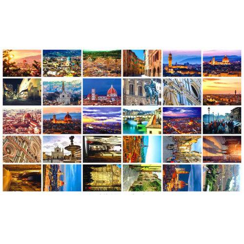 30 PCS 1 Set World's Beautiful/Famous City Postcards, Florence