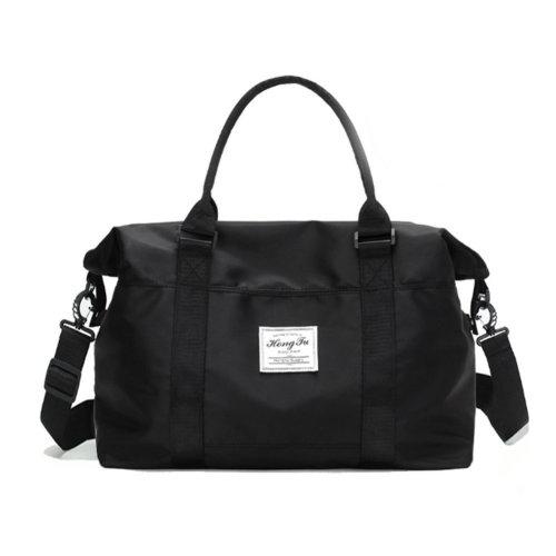 Portable Luggage Bag for Travel Gym Sports, Black