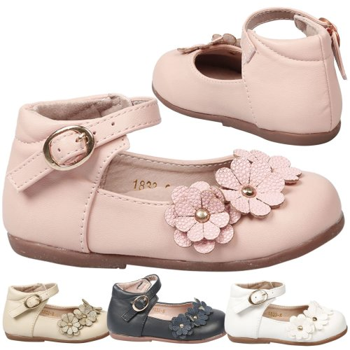 8020c695da6fc Noella Girls Kids Toddlers Ankle Strap Flat Floral Shoes on OnBuy