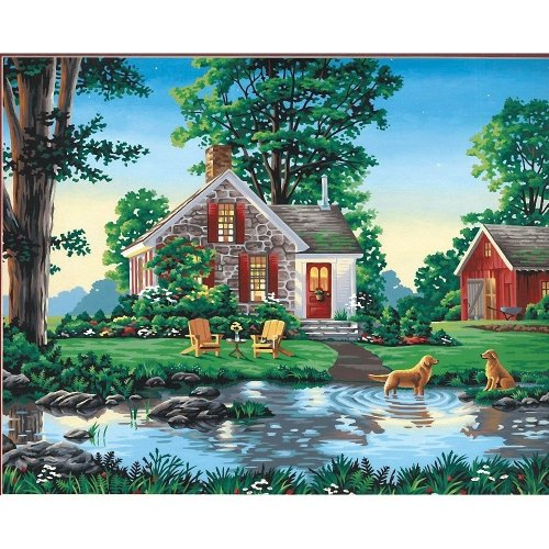 Dpw91433 - Paintsworks Paint by Numbers - Summer Cottage