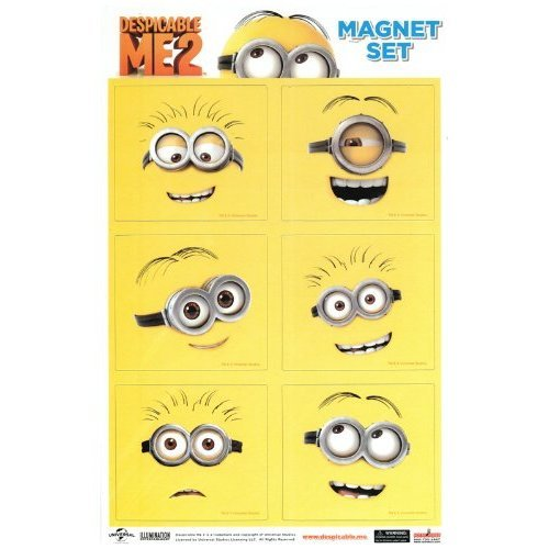 Despicable Me 2 Line Art Minions Magnet Collection by Animewild