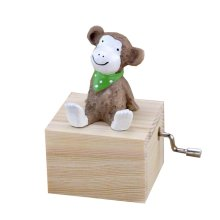 Animal Music Box Mini Hand Crank Music Box Height Approx 3.1 Inch ?¨Monkey??