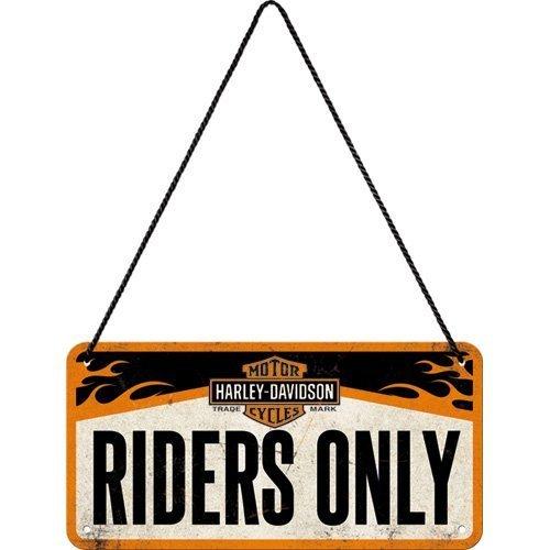 Nostalgic Art 28003Harley Davidson Riders Only Sign, 10x 20cm