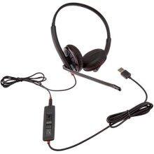 Plantronics 325Binaural Head-band Black Headset–Headsets (Media/Holder, Binaural, Head-band, Black, Button, Wired)