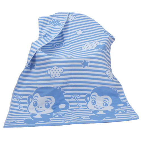 Personalized Cotton Towels Kids Towel Large Soft  Bath Towel Beach Towels 140*70 cm,monkey, blue
