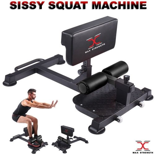 Sissy Squat Machine Fitness Equipment Home Gym Leg Exercise
