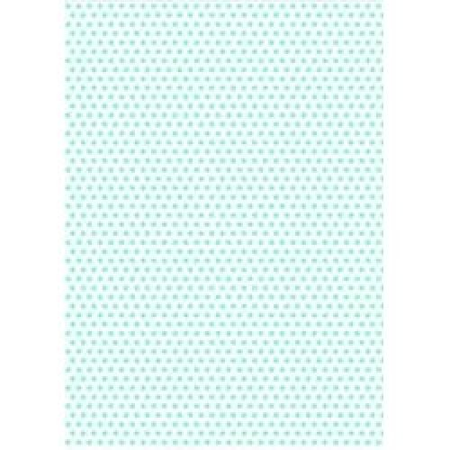 5 x A4 Aquamarine Polka Dot Card Stock, Dot Size:- Medium - PD64