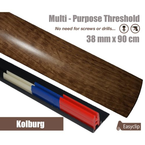 Kolburg Oak Multi Purpose Threshold Strip 38x90cm Adhesive Clip System