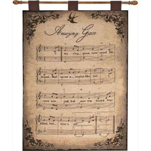 Manual Woodworkers and Weavers HWBLSA How Sweet The Sound Tapestry Wall Hanging Vertical 26 X 36 in.