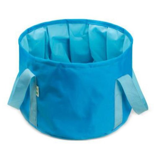 15L Portable Folding Wash Basin Leak-proof Foldable Bucket Footbath Basin with Carrying Pouch #5