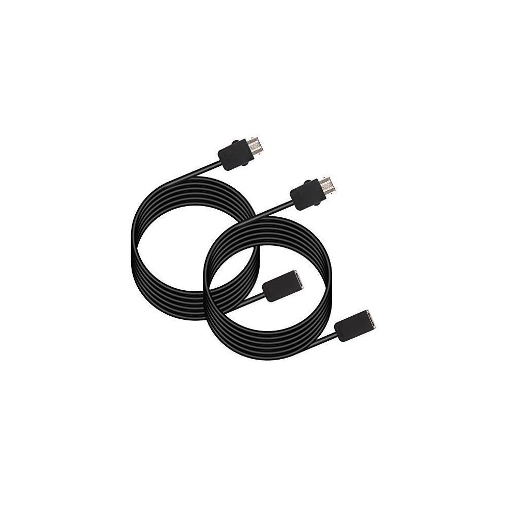 TWIN PACK SNES Classic Mini / NES Classic Extension Cable - TwitFish 1 8m /  6ft Extension Cable (2X BLACK Extension Cables for SNES Classic Mini &