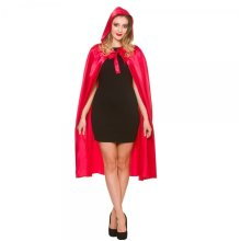 Long Satin Hooded Cape