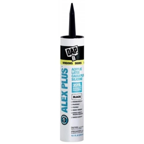 Dap Black Alex Plus Acrylic Latex Caulk Plus Silicone  18126