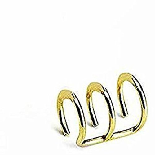 Gold Plated Triple Closure Ring Clip On Fake Tragus or Cartilage Non Piercing Material : Surgical Steel