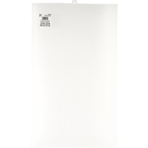 "Darice Ultra Stiff Plastic Canvas 7 Count 13.625""X22.6""-Clear"