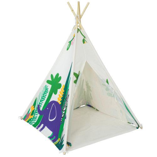 SoBuy® OSS03-F, Children Play Tent Playhouse Teepee with Floor Mat