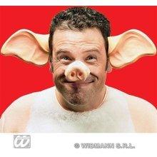Adults Pig Ears On Headband -  pig ears plastic animal fancy dress farm