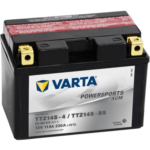 Varta Sealed and Charged Motorcycle Battery Powersports AGM TTZ14S/TTZ14-BS