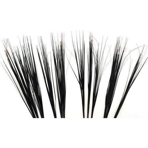 Set of 12 Artificial Colour Tip Grass Spray - 80cm Black Grass with Light Pink Tips