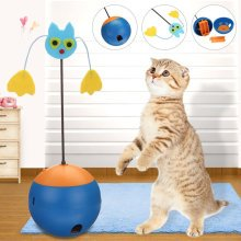 Funny Pet Cat Kitten Play Toy Electric Rotating Cat Teaser For Pet Kitten Toys