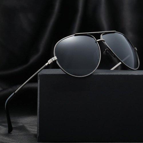 2018 Vintage Retro Aviator Polarized Sunglasses Men Night Driving Glasses Women Brand Designer Pilot HD UV400 Rays Mirror oculos