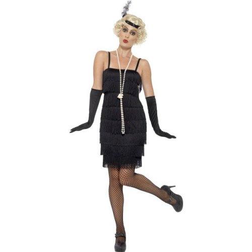 4f6495cd45e Uk 20-22 Black Ladies Flapper Costume - costume flapper fancy dress ladies  charleston black smiffys 1920s outfit sxxl gatsby gloves on OnBuy