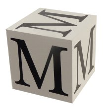 Wooden Block - Letter M