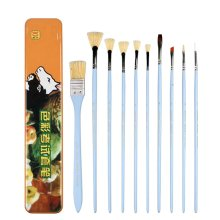 10pcs Professional Paint Brushes Artist for Watercolor Oil Acrylic Painting [B]