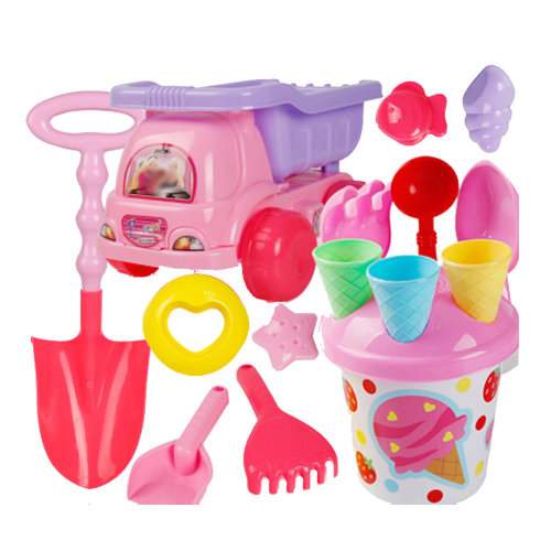 16 Piece Beach sand Toy Set, Bucket, Shovels, Rakes,Perfect for Holding Childrens' Toys#B