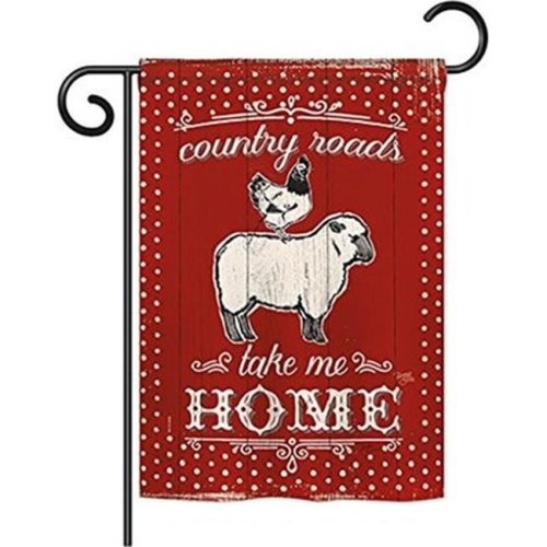 Breeze Decor BD-FA-G-110124-IP-BO-D-US18-WA 13 x 18.5 in. Country Friends Nature Farm Animals Impressions Decorative Vertical Double Sided Garden Flag