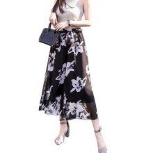 Stylish Printing Design Loose Fitting Pants Wide Leg Trousers Slacks for Women, #03