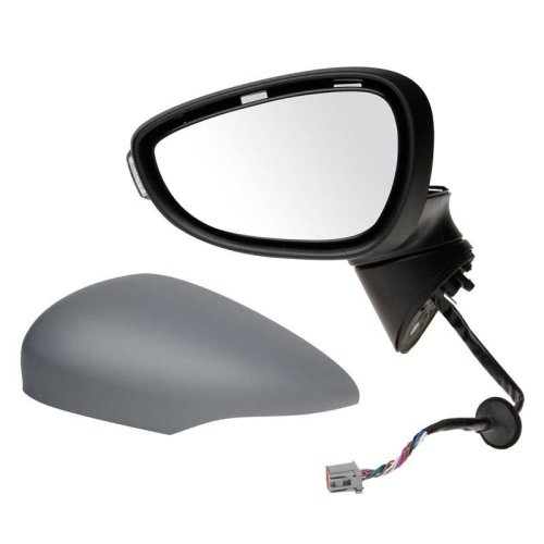 Ford Fiesta Mk7 2008-2012 Electric Wing Door Mirror Primed Cover Passenger Side N/s