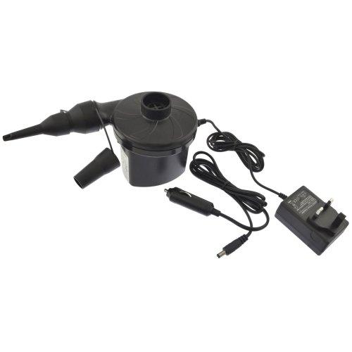 240V / 12V Electric Air Pump Inflator Adaptors Valves Camping Bed Car BLK005