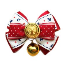 England Style Pet Collar Tie Adjustable Bowknot Cat Dog Collars with Bell-C08
