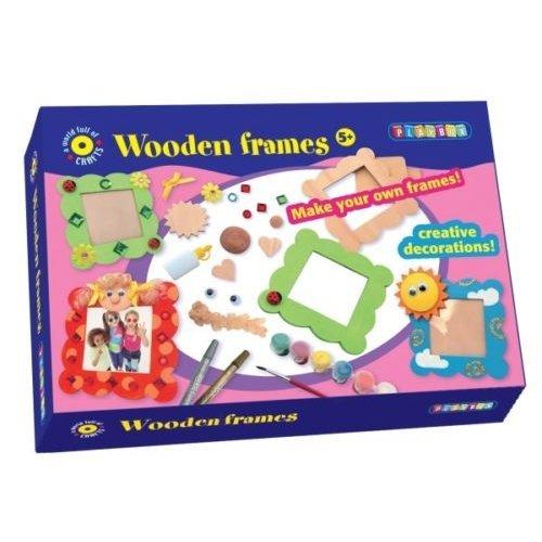 Make Your Own Wooden Frames Craft Set -  playbox craft set wooden frames