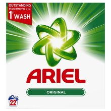 Ariel Original Biological Washing Laundry Detergent Cleaning Powder - 22 Washes
