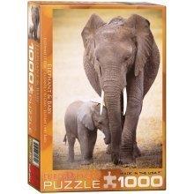 Eg60000270 - Eurographics Puzzle 1000 Pc - Elephant & Baby