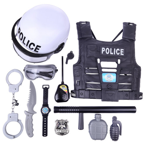 11Pcs Children Pretend Play Toys Simulation Policeman Playset
