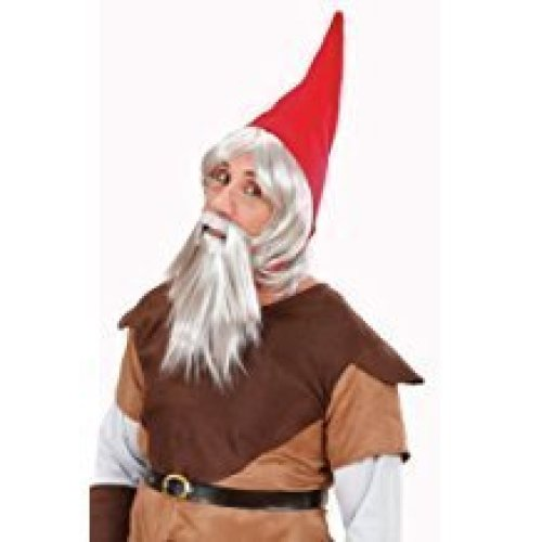 858111ab676 Gnome   Elf W  Hat Beard Wig For Fancy Dress Costumes   Outfits Accessory - gnome  hat dwarf red wig beard grey accessory garden elf orc goblin fanc on OnBuy