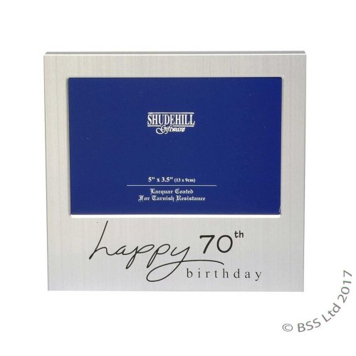 Happy 70th Birthday 5 x 3 photo Frame by Shudehill giftware