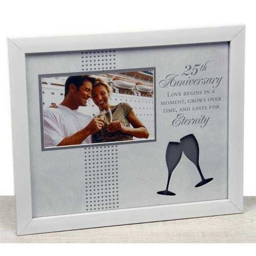 25th Anniversary Photo Frame - Moments by Shudehill Giftware