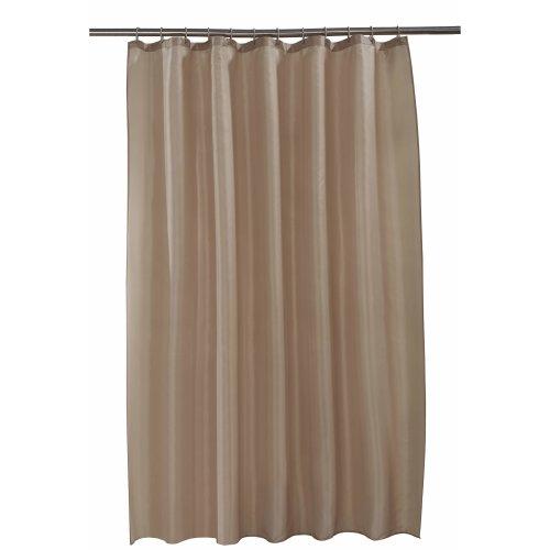 Spectrum 180 x 180 cm Shower Curtain and Rings Set, Latte