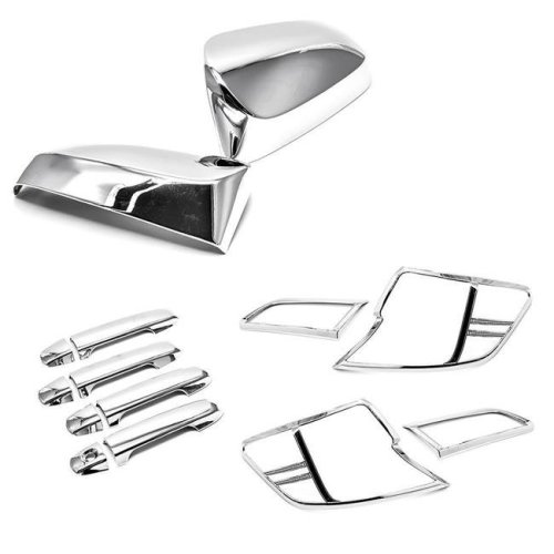 Atomsonic AMS128512861408A Chrome Door Handle & Mirror & Tail Light Covers for 12-14 Toyota Camry
