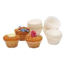 Fluted White Paper Petit Fours Cases